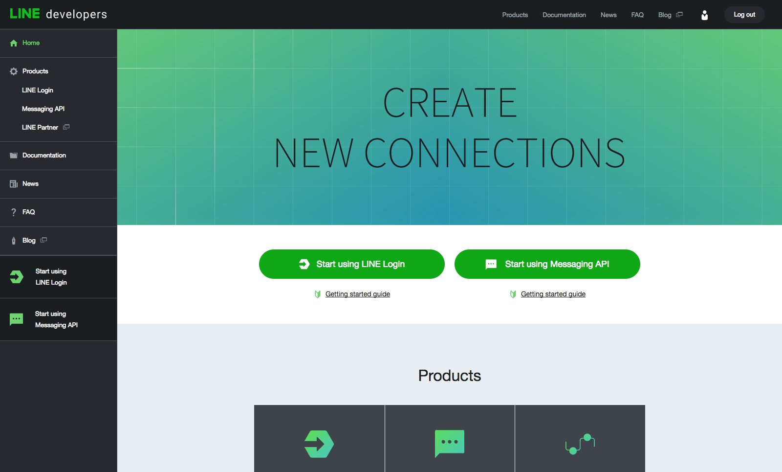 New LINE Developers Site