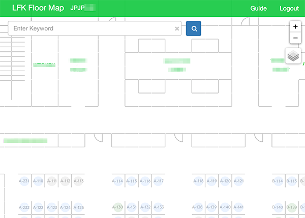 Floor map management system on web, with Leaflet - LINE ENGINEERING